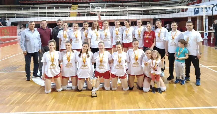 Двојна круна за одбојкарките на Работнички Скопје