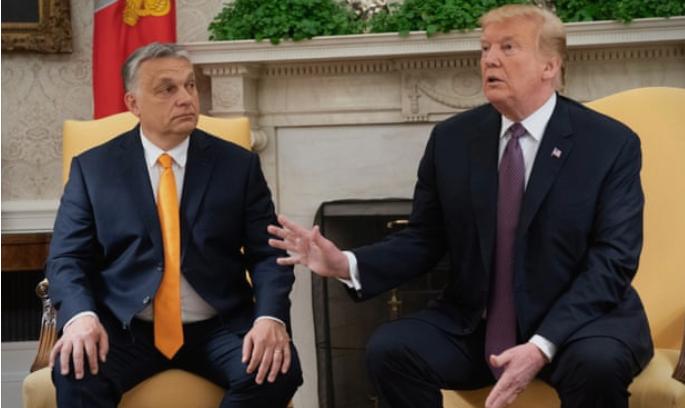 ВИДЕО: Трамп му посака добредојде на Орбан: Глобалните политички прашања во фокусот на средбата