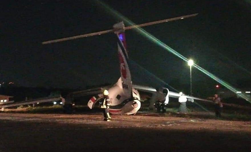 Авион излета од писта на аеродромот во Јангон