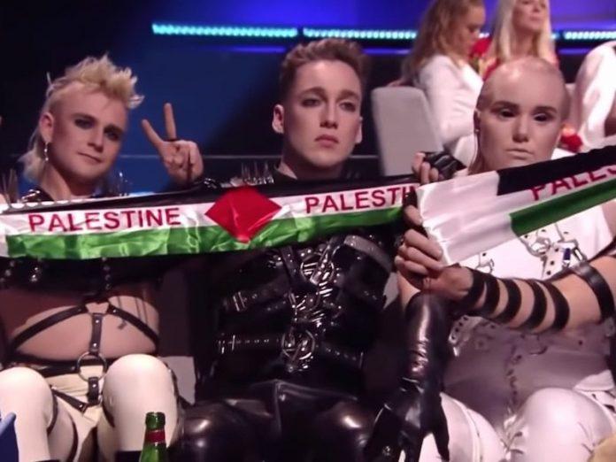 Обезбедувањето им ги одзеде палестинските знамиња на претставниците на Исланд- еве со каква казна ќе се соочат (ВИДЕО)