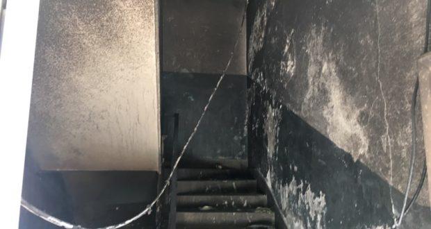 Пожар избувна во зграда во Гостивар (ФОТО)