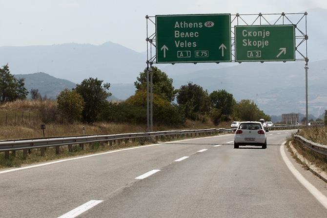 Затворена за сообраќај една коловозна лента на автопатот Скопје- Велес