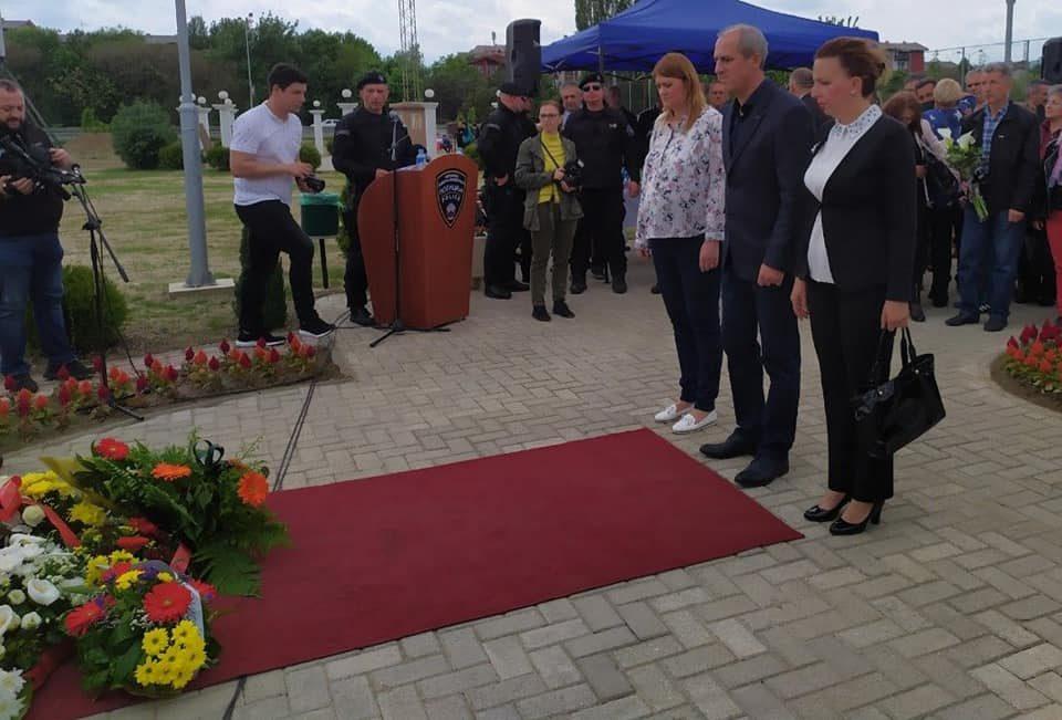 ВМРО-ДПМНЕ ОК Гази Баба присуствуваше на откривањето на споменикот на Горан Стојменовиќ кој загина во Диво Насеље