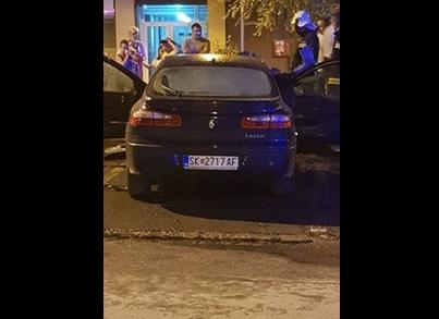 ФОТО: Се запали автомобил во Аеродром