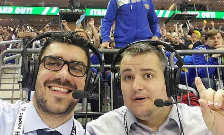 Коментаторите Стеван и Сретен искрено проговореа: Воодушевени сме од Македонија, ракометарите и навивачите на Вардар!