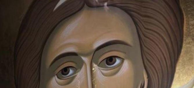 Чудо во манастир:  Плаче икона на свети Архангел Михаил (ФОТО)