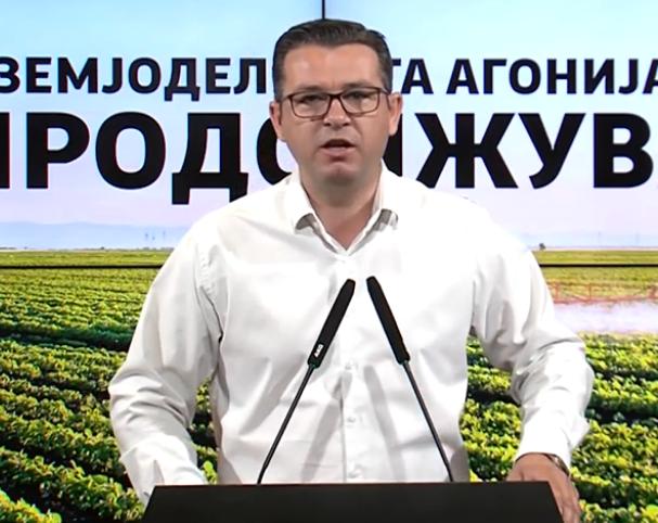 Трипуновски: Власта сериозно да почне да се занимава со земјоделието