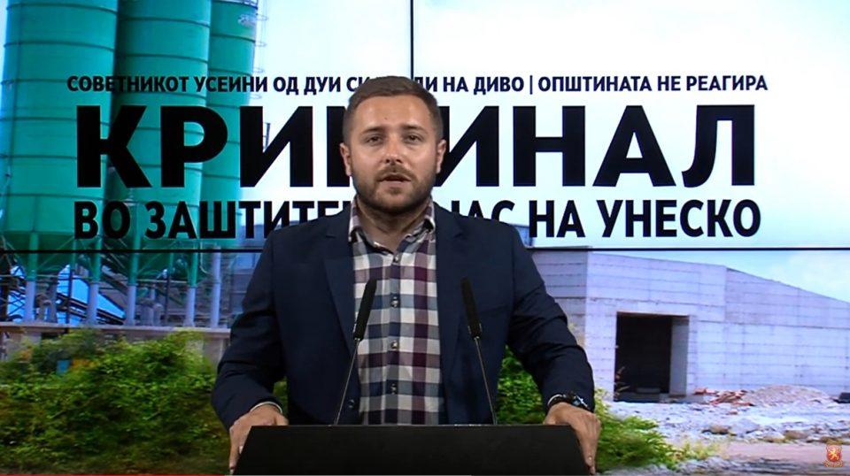 Арсовски: Веднаш да се запре уништувањето на Охрид, на кое му кумуваат градоначалникот и неговиот политички ортак Усеини