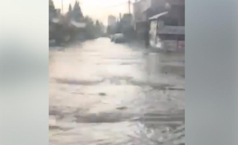 Дождот направи поплави во Драчево: Цела населба под вода (ВИДЕО)