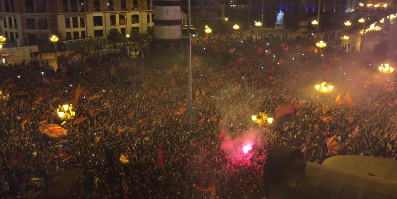 ВИДЕО: 100.000 грла ја пеат македонската химна