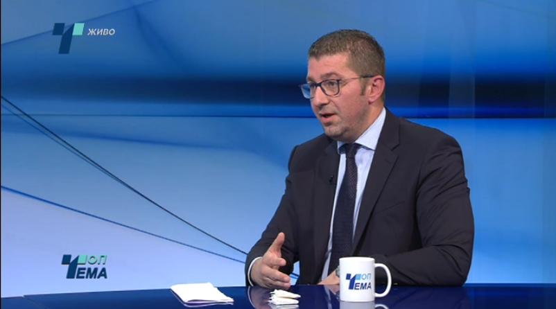 Мицкоски: ВМРО-ДПМНЕ се залага за датум за преговори, граѓаните да не бидат заложници на неспособната влада