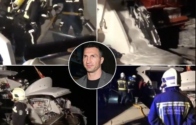 Кличко извлечен од сигурна смрт: Неговата јахта запалена, семејството евакуирано! (ВИДЕО)