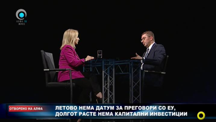 Мицкоски: Тевдовски кога се фали дека собрал повеќе персонален данок, треба да се каже дали за толкав процент услугата кон граѓаните е подобрена