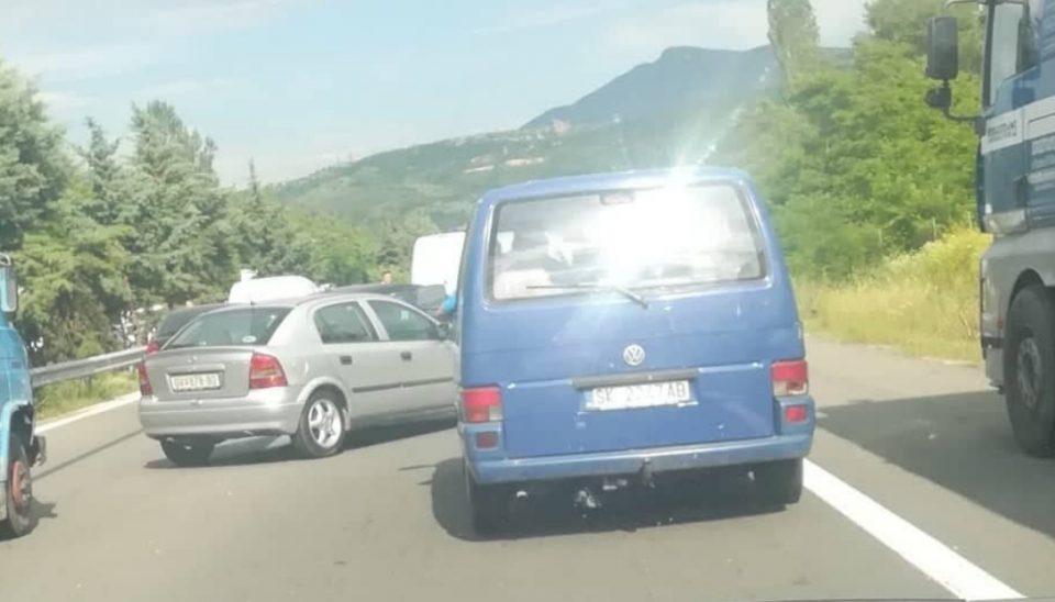 Сообраќајка на автопатот Тетово-Скопје кај Ласкарце