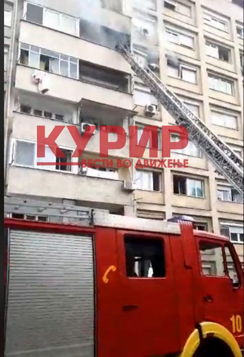 КУРИР со детали по пожарот во станот во Кисела Вода- станарите се уште немаат пристап до своите домови, увидот е во тек