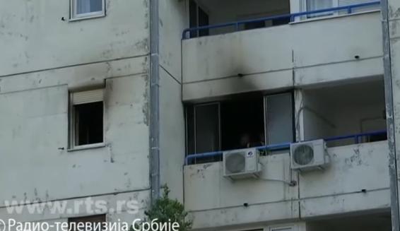 Намерно предизвикала пожар во станот па скокнала со своето 3 годишно дете од 4 кат во Белград