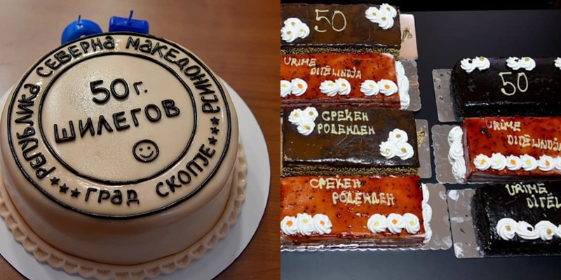 Лошиот тим за односи со јавност му го уништи 50 роденден на Шилегов- тортите на Петре кој сам си ги подарил хит на социјалните мрежи (ФОТО)