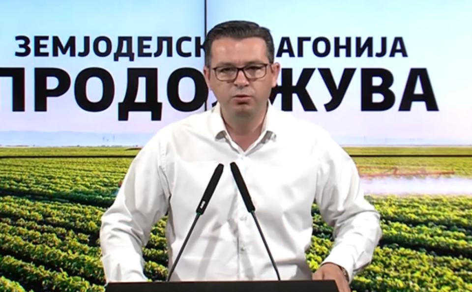 Трипуновски: Заев наместо да гази црвени теписи низ светот, заедно со Николовски нека се потрудат да обезбедат откуп на земјоделските производи