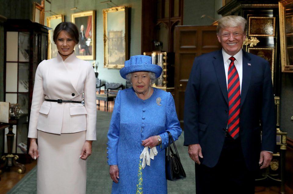Британската кралица го прими американскиот претседател