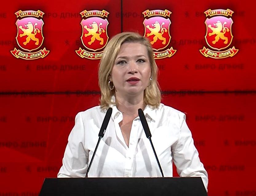 Василевска: Преговарање за македонскиот јазик е уште еден чин на предавство на Заев