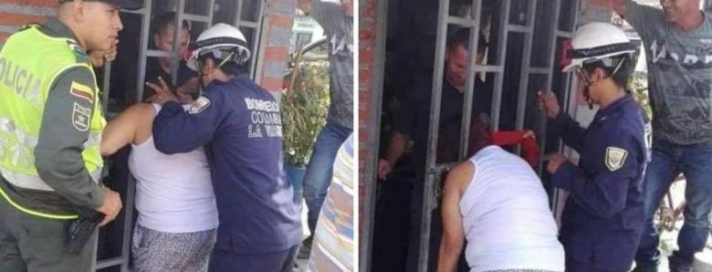 ФОТО: Ги шпиунирала соседите, па ја заглавила главата