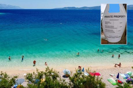 ФОТО: Хрватите очајни, посебно наплаќаат место под сенка на плажа- објавен ценовник на познат камп