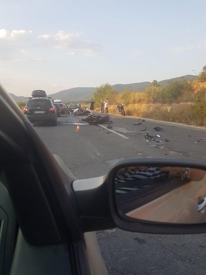ФОТО: Тешка сообраќајка попладнево кај Охрид – едно лице повредено
