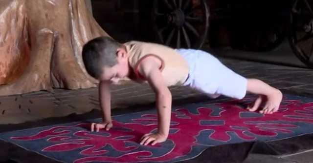 Шестгодишно момче направи 4.445 склекови, собори рекорд и освои стан! (ВИДЕО)