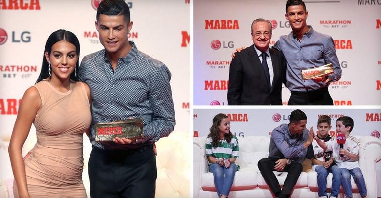 """Роналдо ја доби наградата """"Марка легенда"""", Георгина блесна покрај него (ФОТО)"""