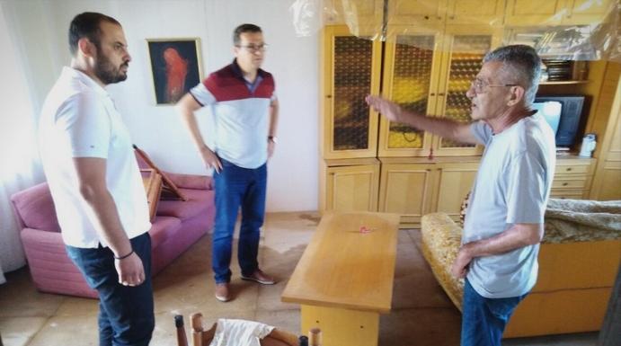 Ѓорѓиевски и Трипуновски ги посетија најпогодените места од невремето: Власта е глува за проблемите со кои се соочуваат граѓаните