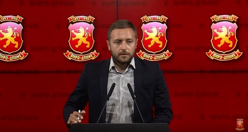 Арсовски: Со вчерашното апсење се покажа дека во Македонија владее криминално политичко милје и се потврди сето она кое што го говореше ВМРО-ДПМНЕ изминатиот период