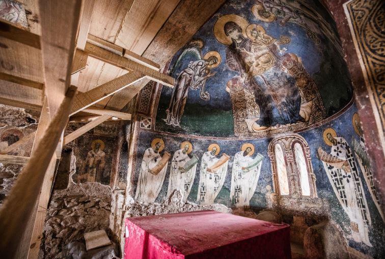 """Реставрација на црквата """"Св. Ѓорѓи"""" во Курбиново"""