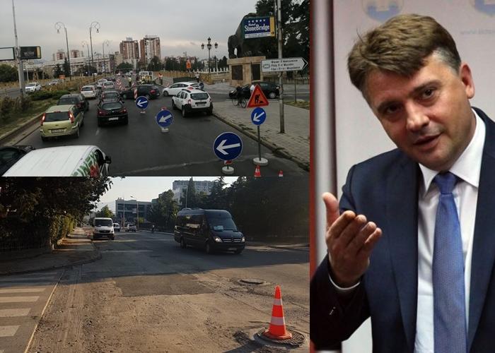ФОТО: Граѓаните со апел до Градот Скопје да прекине да ги копа веќе асфалтираните улици од претходната власт поради нечии бизнис интереси