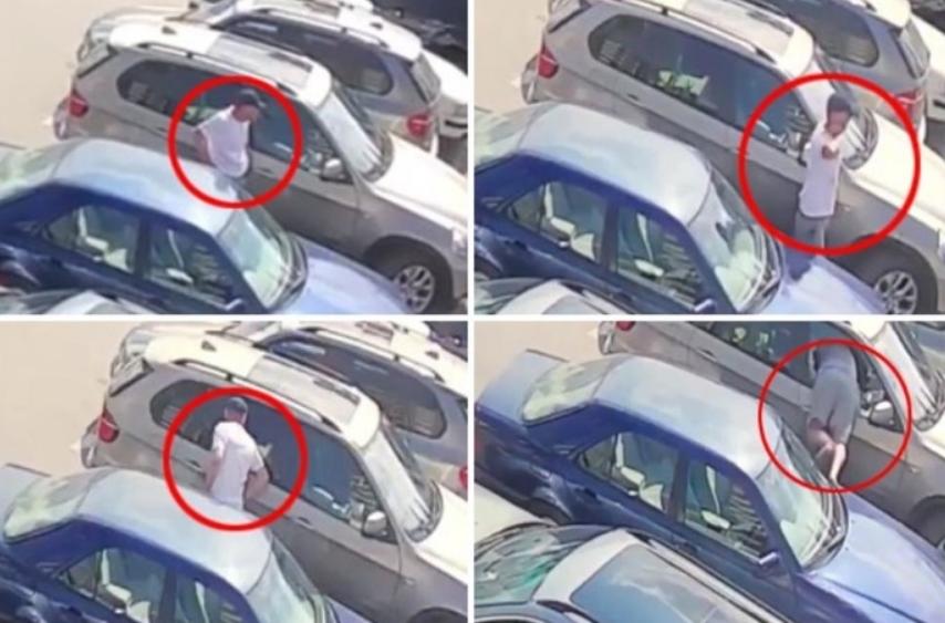 Обивање на автомобил на косовски начин: Еве како се краде на паркинг среде бел ден (ВИДЕО)