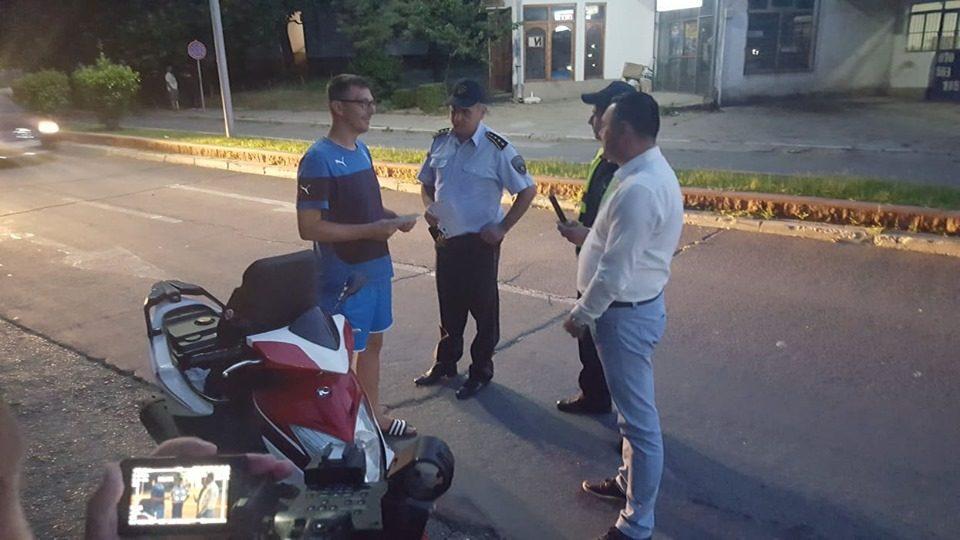 Митко Јанчев на терен во спроведување на превентивната акција за употреба на заштитна кацига (ВИДЕО)