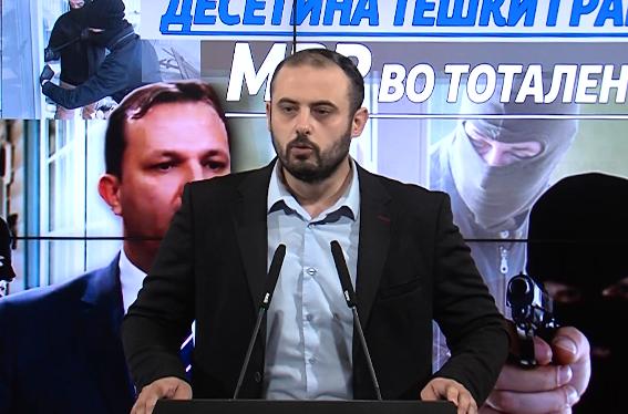 Ѓорѓиевски: МВР е во тотален хаос и неефикасно, се случуваат тешки кражби сред бел ден, а никој не одговара