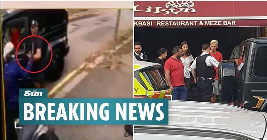Видео: Озил нападнат со ножеви среде Лондон, Колашинац го бранеше со голи раце