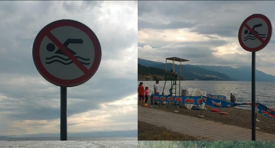 На овие охридски плажи е забрането пливање: Езерото не е безбедно за капење!