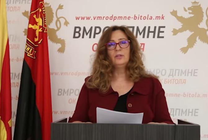 Ангелевска: Радмила Шекеринска во РЕК Битола гледа само уште еден бонбона бизнис