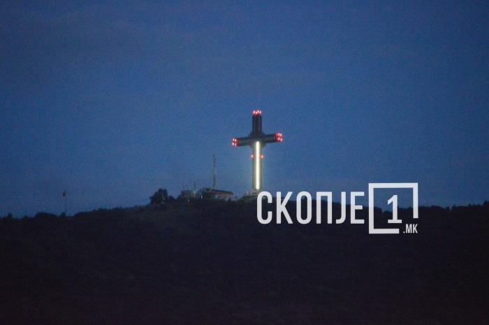ФОТО: Се расипа осветлувањето на Милениумскиот Крст