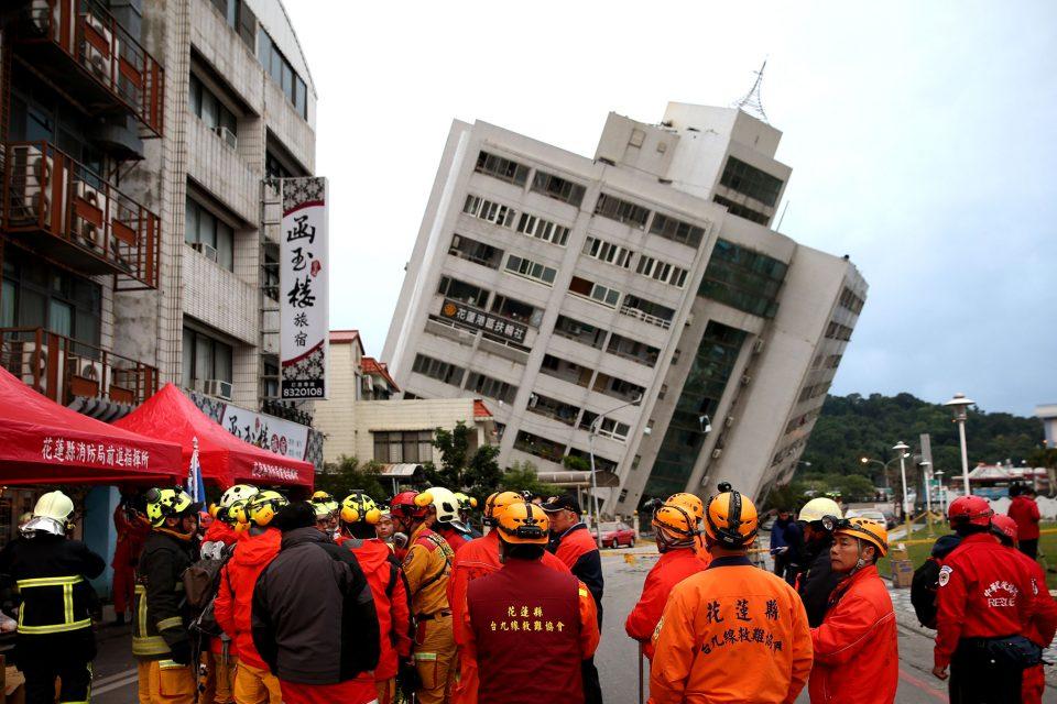 Земјотрес од 6 степени според Рихтер го потресе Тајван, еден загинат