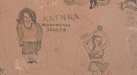 ВИДЕО: Катица Јанева до Рита Ора на ѕидовите од притворското одделение во Шутка