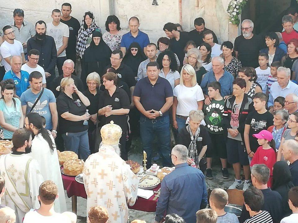 Ане Лашкоска и Петар Ристески во манастирот Трескавец по повод денешниот празник