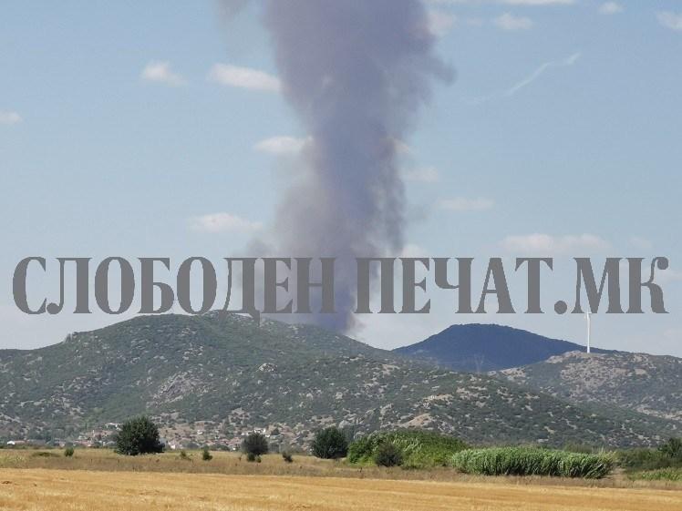 Гори во гевгелиско: Пожарот се распламтува накај ветерниците (ФОТО+ВИДЕО)