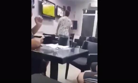 Кога ќе се налути Македонец: Поради промашен пенал не доби 11.000 евра, па збесна и почна да крши (ВИДЕО)