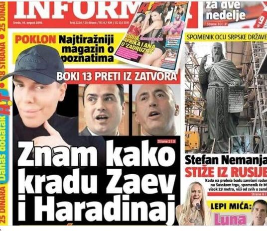 Боки 13 се заканува од затвор: Знам како крадат Заев и Харадинај (ФОТО)