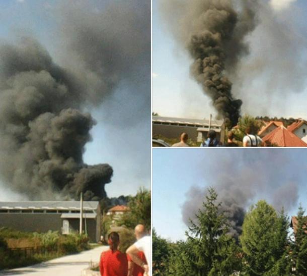 Повредено едно лице: Локализиран пожарот во фабриката кај Ужице