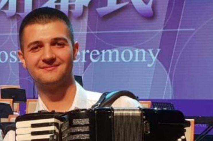 "Младиот хармоникаш Давид Велков успешно се претстави во Кина на ""World Accordion Championships"""