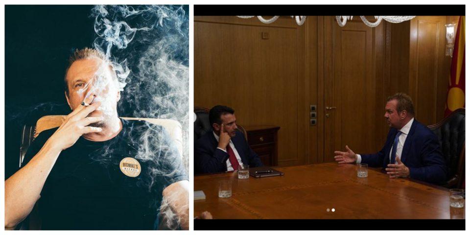 Средба Зоран Заев- Биг Мајк: Премиерот на маса со Инстаграм кралот на марихуаната