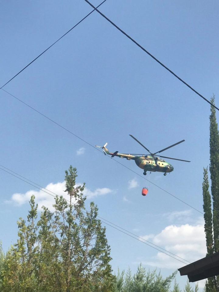 ФОТО: Активирана и АРМ, Велес во пламен